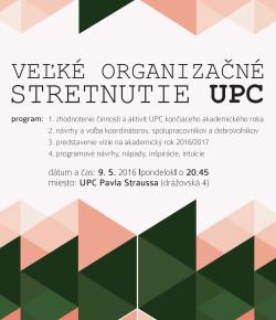 Organizačné stretnutie UPC