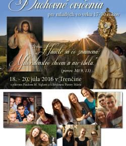 Duchovné cvičenia v Trenčíne 2016