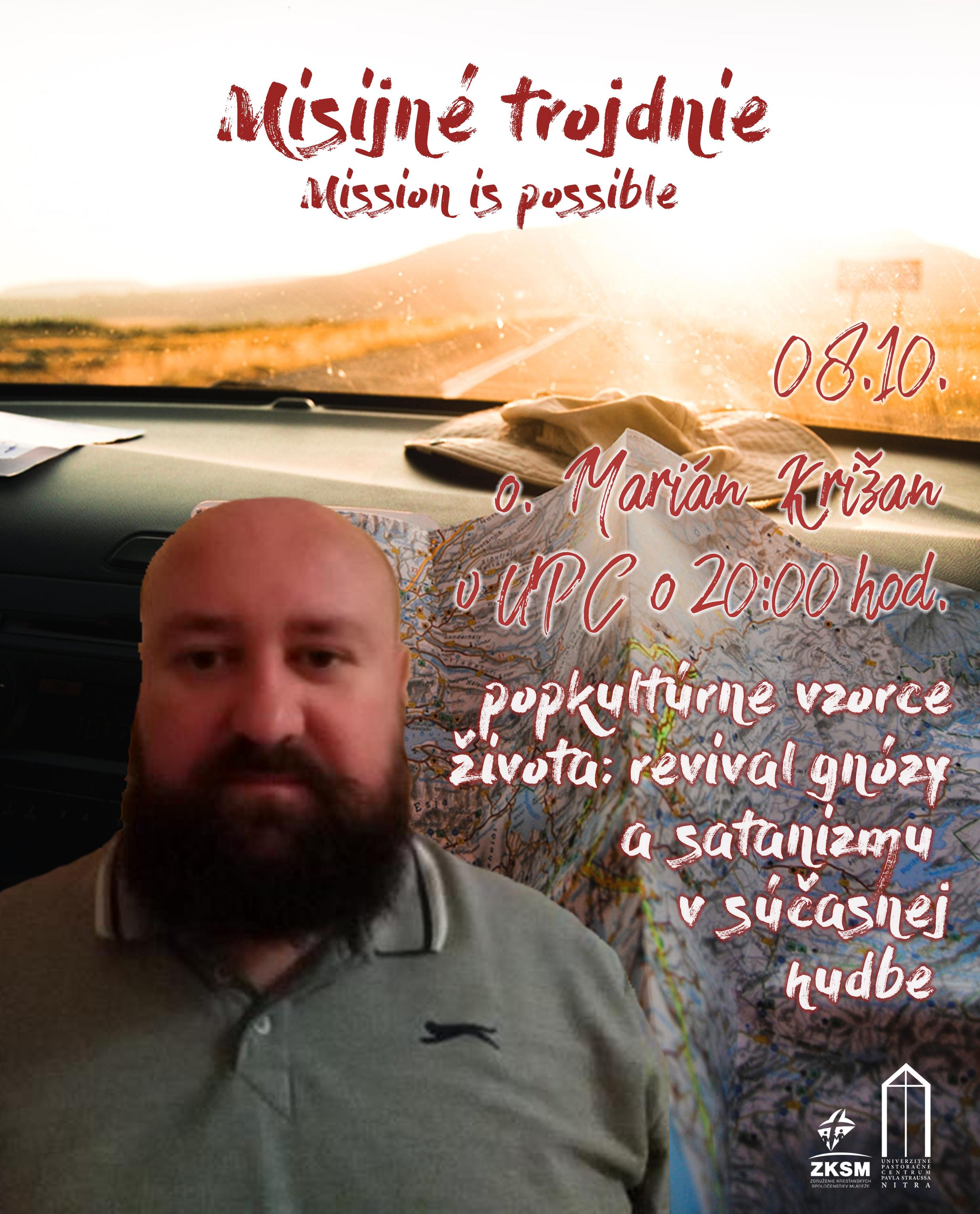 Misijné trojdnie 08.10.2018 s otcom Mariánom Križanom
