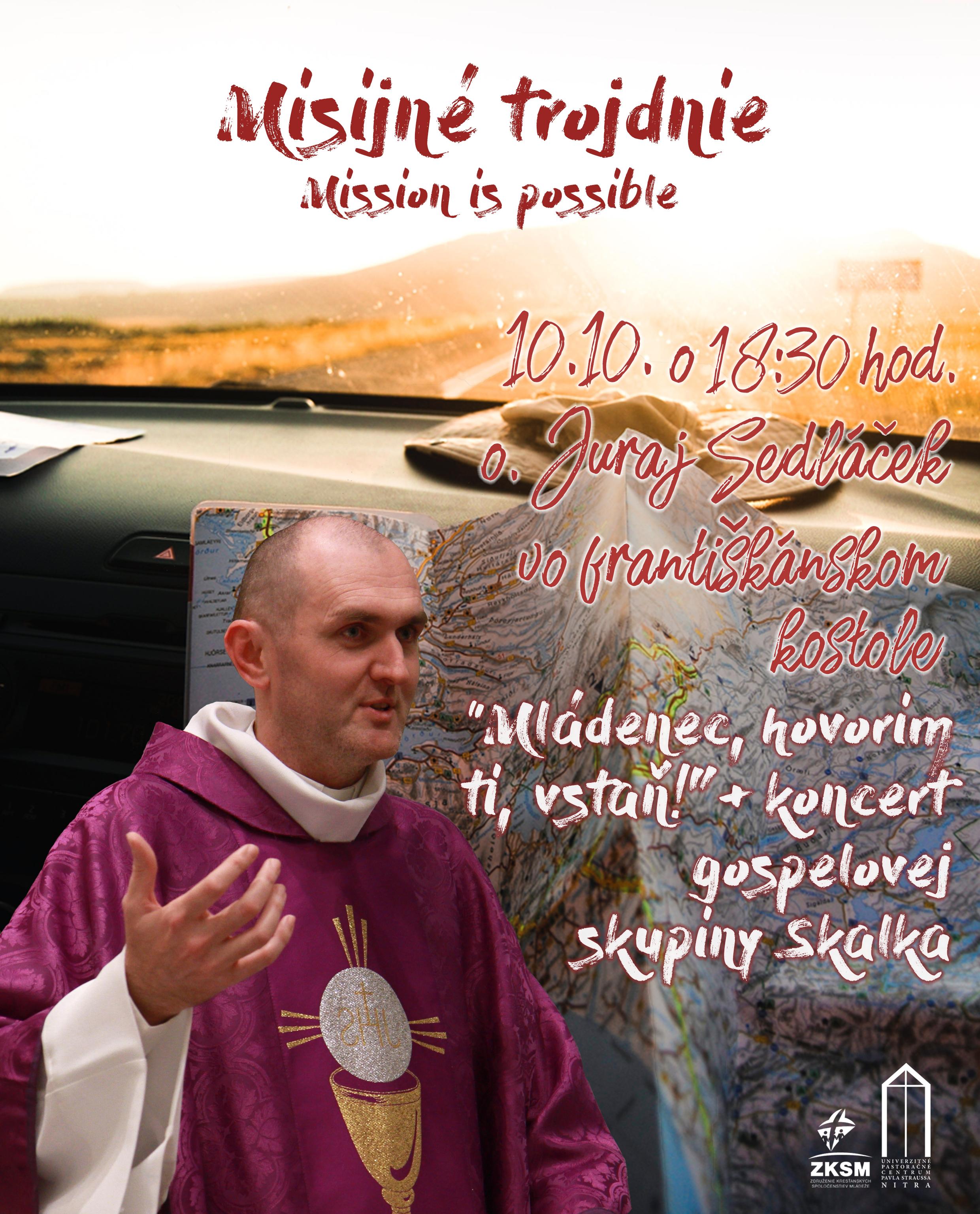 Misijné trojdnie 10.10.2018 s otcom Jurajom Sedláčkom