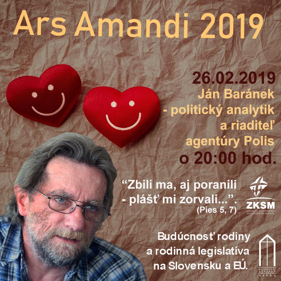 Ars Amandi 26.02. 2019 – Ján Baránek