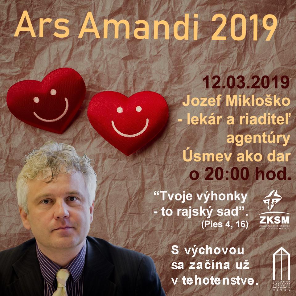 Ars Amandi 2019 12.03.2019 – Jozef Mikloško