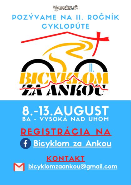 Bicyklom za Ankou plagát