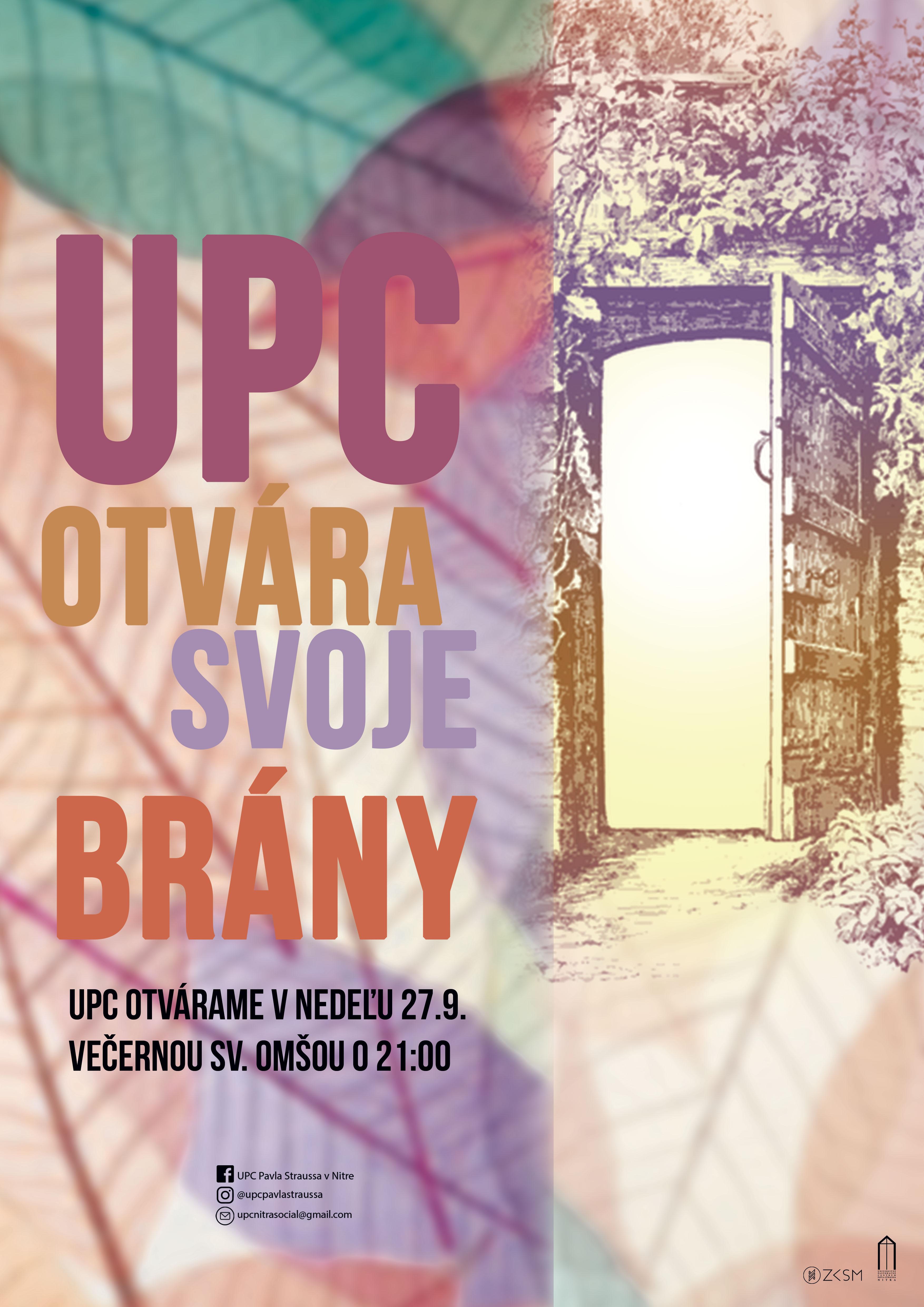 UPC otvára svoje Brány